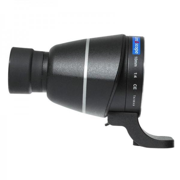 LENS2SCOPE 10mm für Nikon F schwarz, Geradeinblick